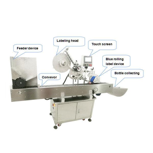 Máquina de etiquetaxe de etiquetas autoadhesivas automáticas con botella redonda pequena de 10 ml