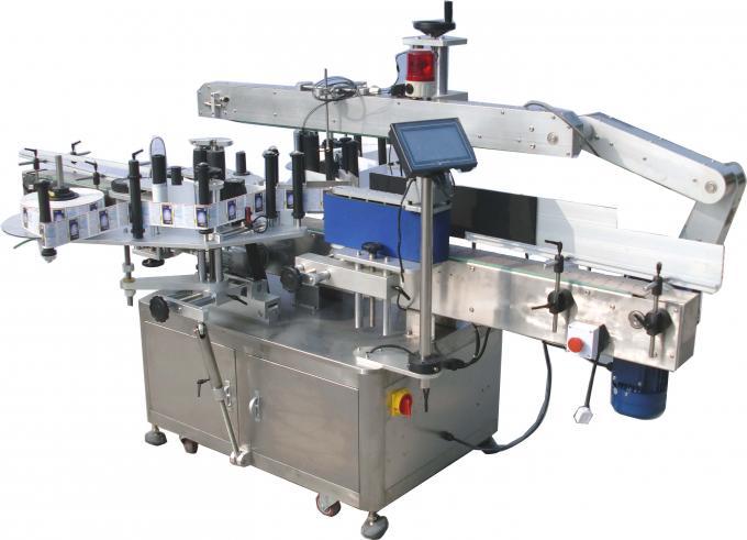 Etiquetadora automática de etiqueta adhesiva dobre lateral 220V 3,5Kw 60-350Pcs / Min