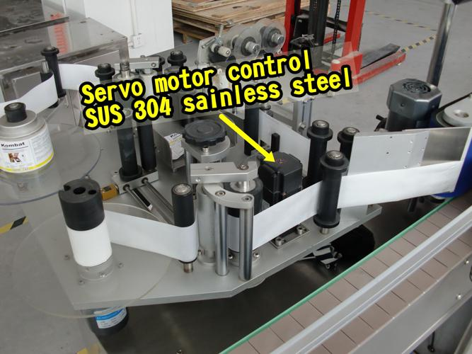 Máquina de etiquetaxe automática de dobre cara con tapa de 5 galóns para adhesivo