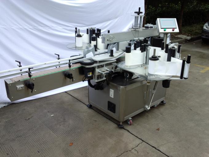 Máquina de etiquetaxe automática de tapado de recheo 110V / 220V con sistema de control PLC