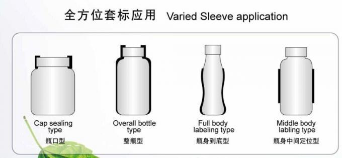 Botella Máquina de etiquetaxe de manga retráctil de aceiro inoxidable Aplicador de etiqueta de manga retráctil