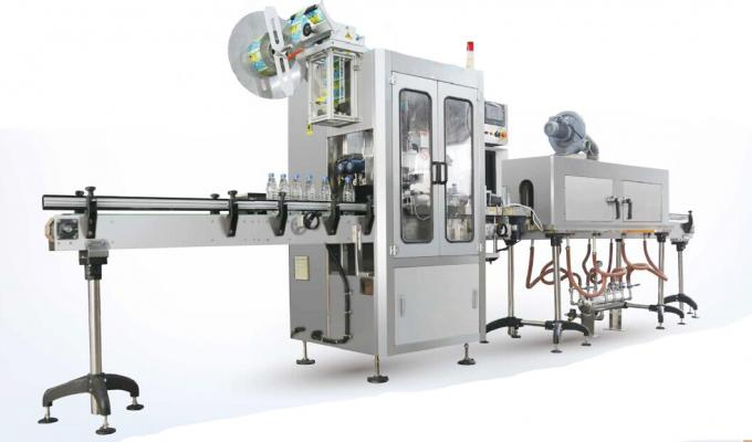 Máquina de etiquetaxe de manga retráctil Nature Spring Water / Máquina aplicadora de manga retráctil