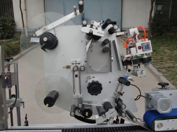 Máquina de etiquetaxe de frascos da marca HY con motor transportador, 7a máquina de adhesivos de etiquetas de baterías para electrónica