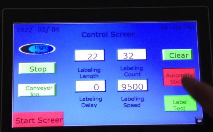 Máquina de etiquetaxe automática de dobre cara automática con detección de obxectos con disco giratorio