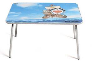 Aplicador de etiqueta de superficie plana con adhesivo autoadhesivo sobre mesa con obxectos de alimentación da máquina de paxinado