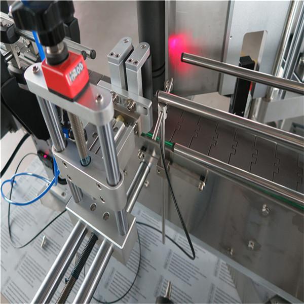 Etiquetadora automática de botellas redondas estándar dianteira e posterior