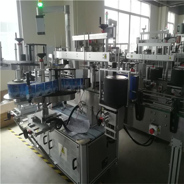 Máquina aplicadora de adhesivos, máquina de etiquetaxe redonda de dobre envoltura de pescozo / torre