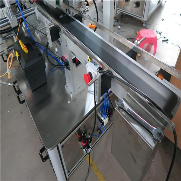 Máquina de etiquetaxe automática de botellas cadradas de tres caras Tipo accionado eléctricamente