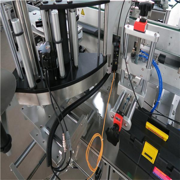 Máquina de etiquetaxe de botellas cadradas, máquina de etiquetaxe de botellas de dobre lado