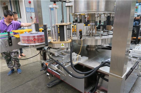 Máquina de etiquetaxe rotativa CE única botella automática completa con ás