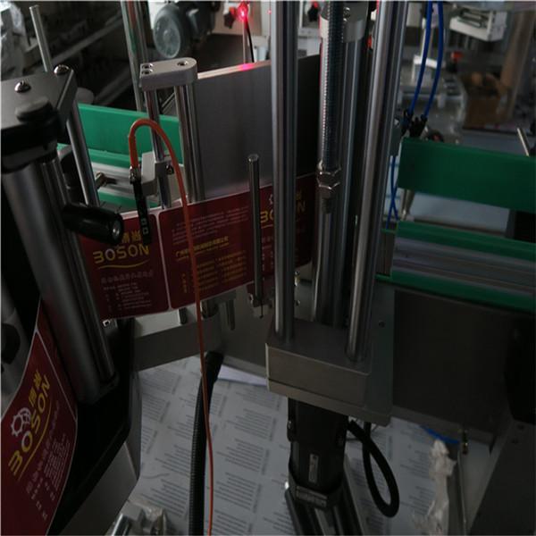Máquina de etiquetaxe de botellas ovaladas, xampú aplicador de etiquetas adhesivas e etiquetaxe de deterxente