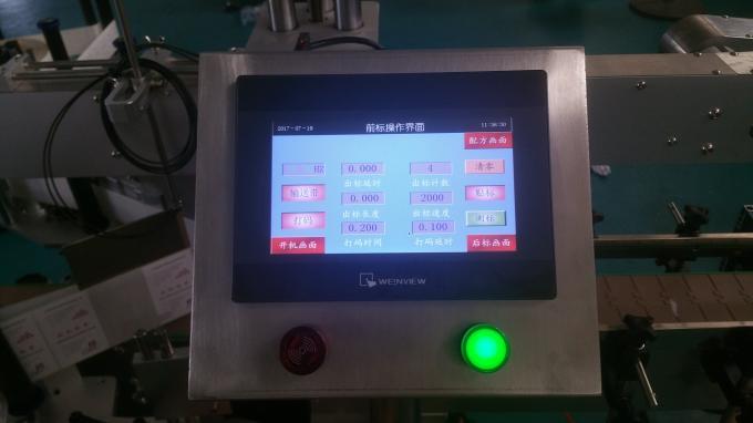 Etiquetadora automática de botellas de vidro de botellas planas, máquina de etiquetas de adhesivos