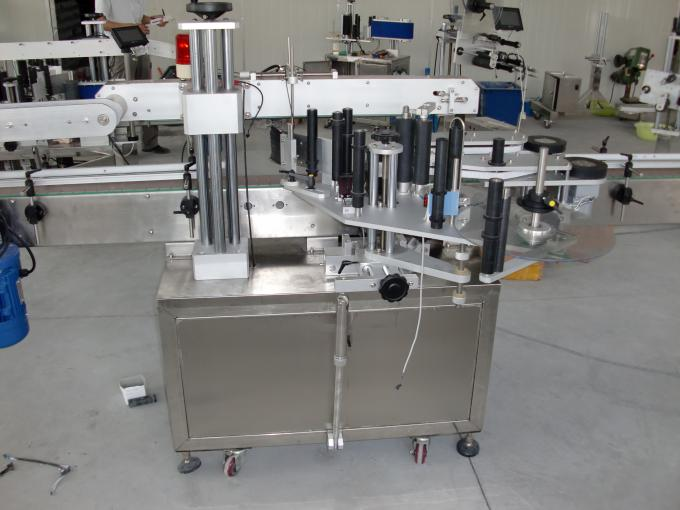 Botellas de plástico e vidro Control motor automático servo motor de etiquetaxe de dobre cara automática
