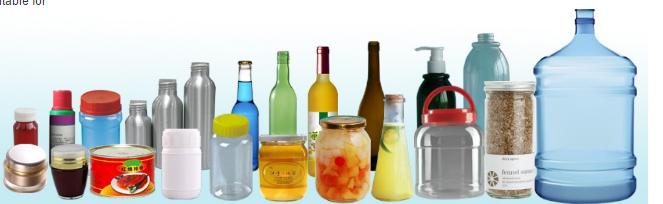 Botella redonda automática Etiqueta adhesiva dobre cara Machin para botella de cervexa