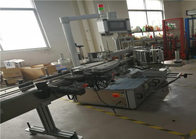 Máquina de etiquetaxe de adhesivos autoadhesivos para produtos químicos, botella de plástico de auga, 3 etiquetas