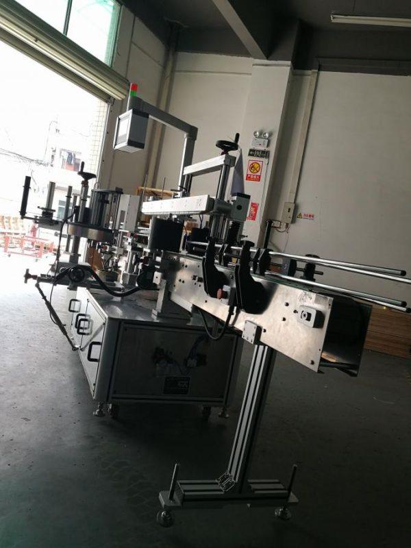 Máquina de etiquetaxe automática de etiquetas, máquina aplicadora de etiquetas de botellas ovaladas para botellas