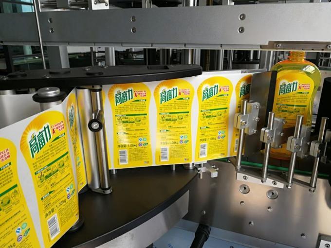 Máquina de etiquetaxe de botellas cadradas dun lado automático / sistema de etiquetaxe autoadhesivo