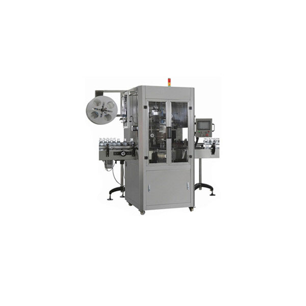 Máquina aplicadora de manga retráctil de 5 galóns de auga para botella grande redonda