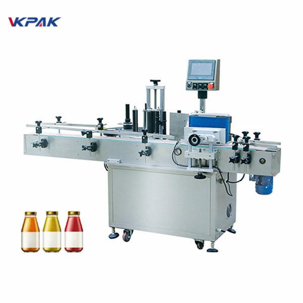 Máquina de etiquetaxe de botellas redondas de auga potable de 5 litros