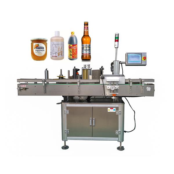 Máquina de etiquetaxe de etiquetas automática arredor de botella plana e redonda