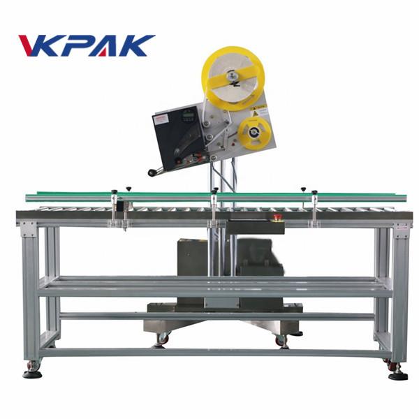 Aplicador de etiqueta industrial de sobres automáticos para caixa de papel de produción a pequena escala