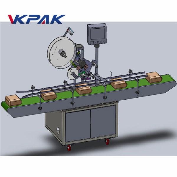 Máquina de etiquetaxe superior de alimentación automática