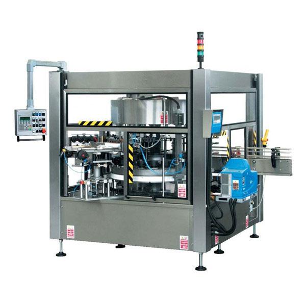 Máquina de etiquetaxe de etiquetas rotativas con botellas CE completamente automáticas