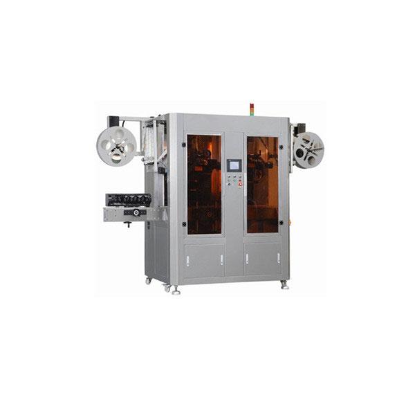 Máquina de etiquetaxe de manga retráctil de selado de tapas e corpos con dúas cabezas
