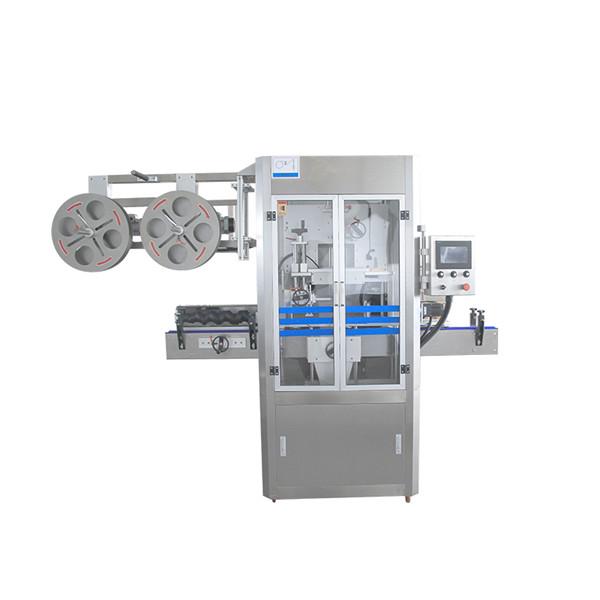Máquina aplicadora de manga retráctil de aceiro inoxidable con selado de tapa con xerador de vapor