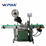 Máquina aplicadora de etiquetas de superficie plana Ce con mesa de recollida