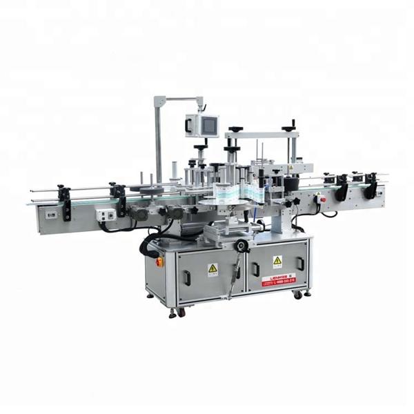 Máquina de etiquetaxe de adhesivo dobre lateral