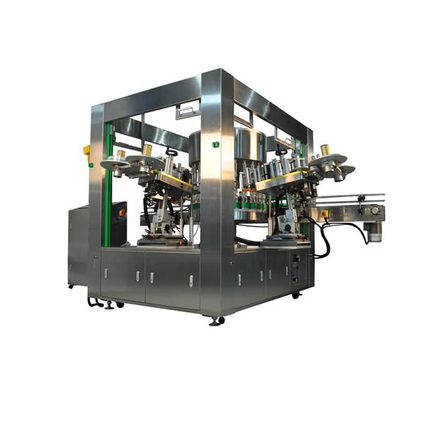 Equipo de máquina de etiquetaxe rotativa de botellas eficientes
