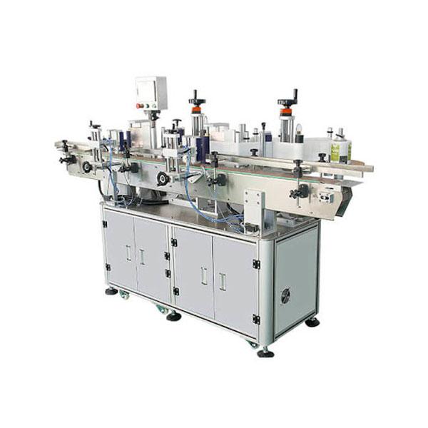 Excelente máquina de etiquetaxe automática para botella de deterxente adhesivo dobre lateral