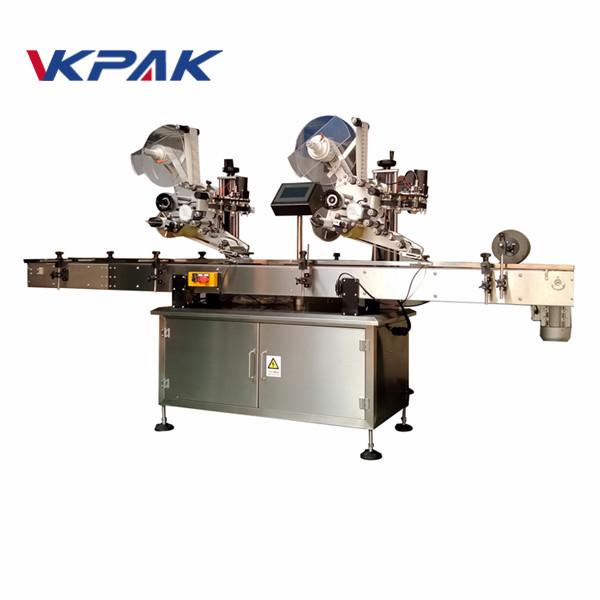 Máquina de etiquetaxe de adhesivos autoadhesivos de superficie plana con máquina de codificación