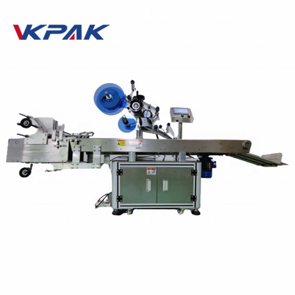 Máquina de etiquetaxe automática de aplicador de etiquetas de superficie plana completa