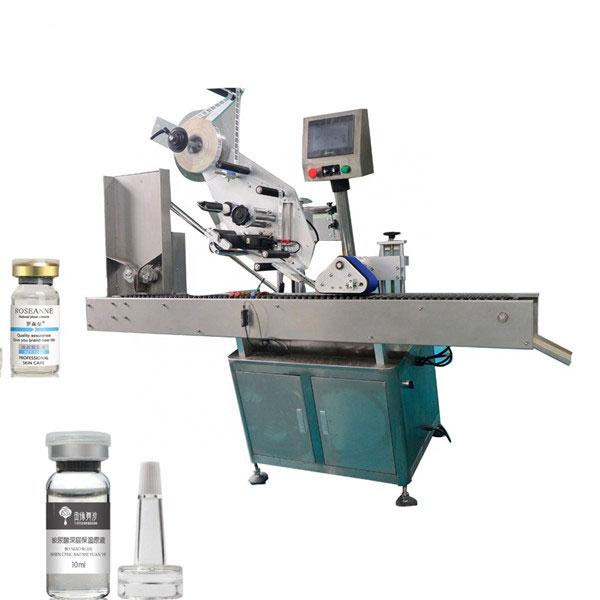 Máquina de etiquetaxe automática de frascos de dobre cara automática de alta precisión