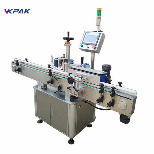 Máquina de etiquetaxe de botellas redondas de alta velocidade de etiquetaxe para produtos lácteos e zumes automáticos