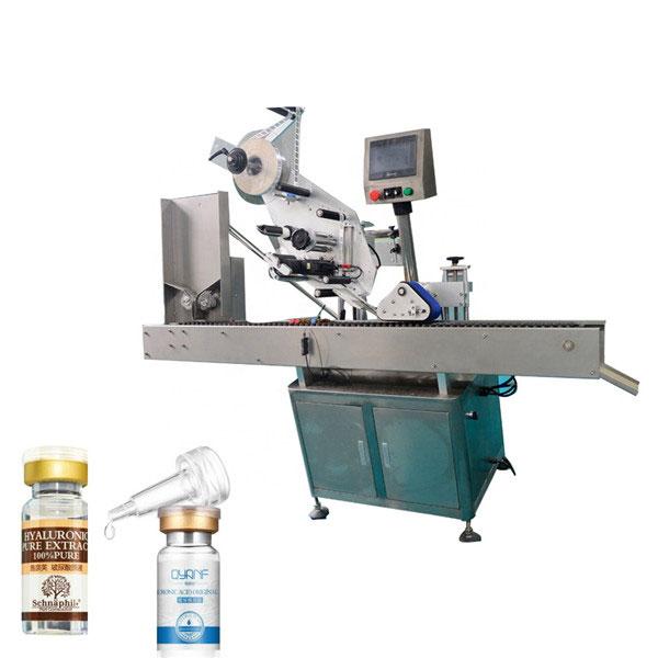 Máquina de etiquetaxe de frascos automática de cartón superior e inferior Sus304 Economy de alta velocidade