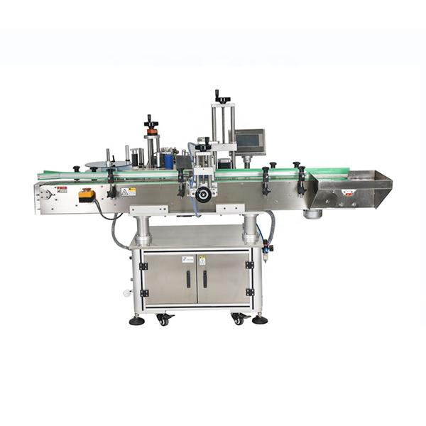 Máquina de etiquetaxe automática de adhesivos dobres laterais con control PLC intelixente