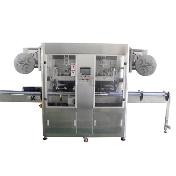 Máquina de etiquetaxe de manga retráctil de aceiro inoxidable para botellas de PET para varias botellas CE