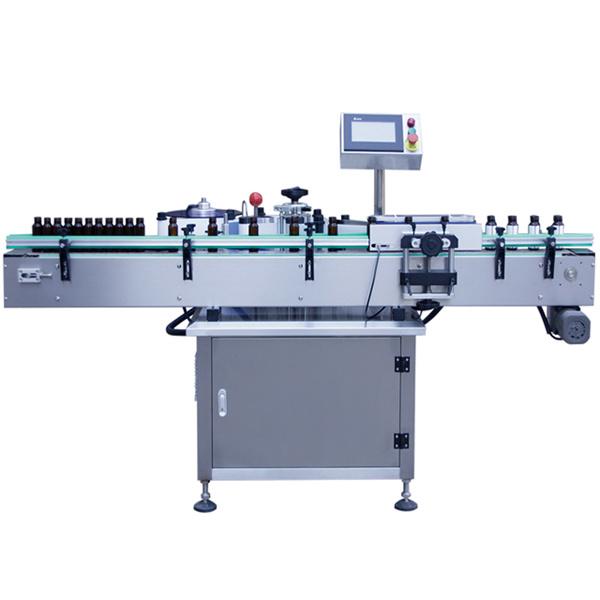 Máquina de etiquetaxe automática de control PLC