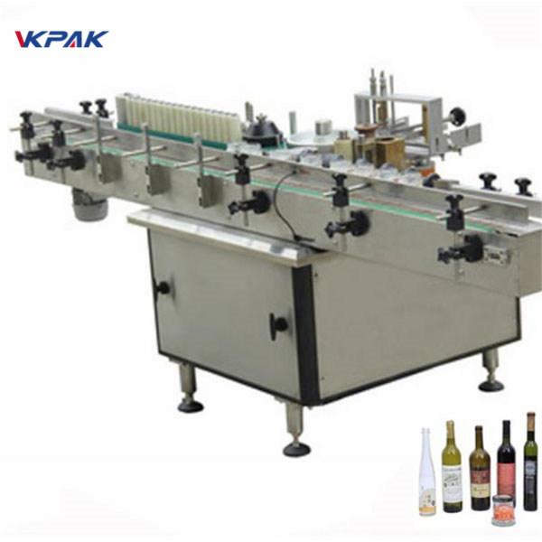 Máquina aplicadora de etiquetas de pegado frío e frío para diferentes botellas automáticas