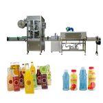 Máquina de etiquetaxe de manga retráctil para botellas de mascotas con xerador de túnel retráctil / vapor