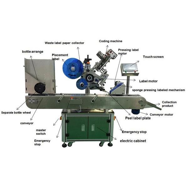 Máquina de etiquetaxe de etiquetas para botellas farmacéuticas Diámetro de botellas de 10-30 mm