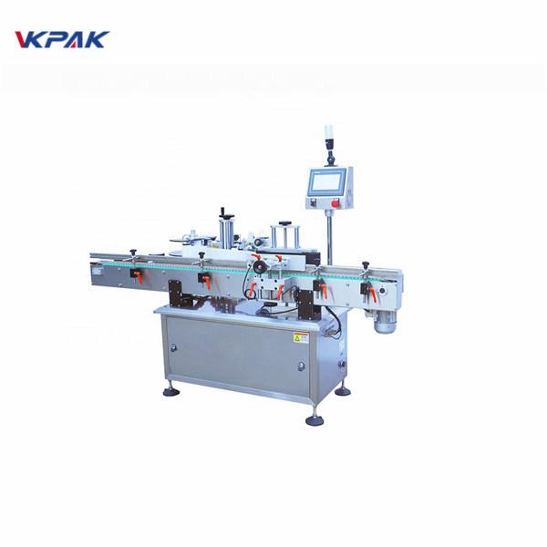 Máquina aplicadora de etiquetas de superficie plana de cola fría de botellas redondas