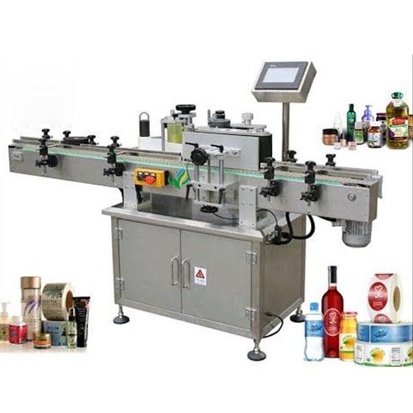 Máquina de etiquetaxe de botellas redondas, aplicador de etiquetas envolvente