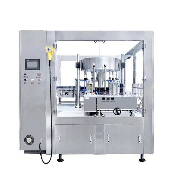 Máquina rotuladora de etiquetas rotativas de botellas de vidro 200 botellas por minuto