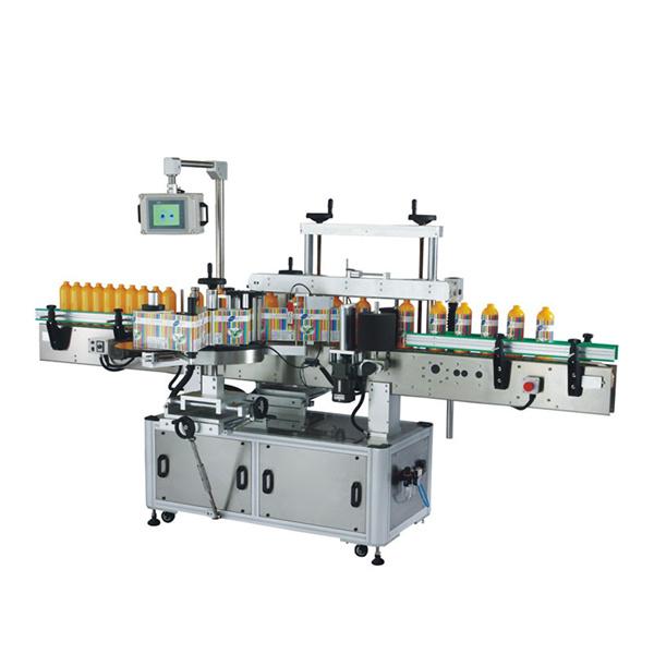 Máquina de etiquetaxe autoadhesiva dianteira e posterior