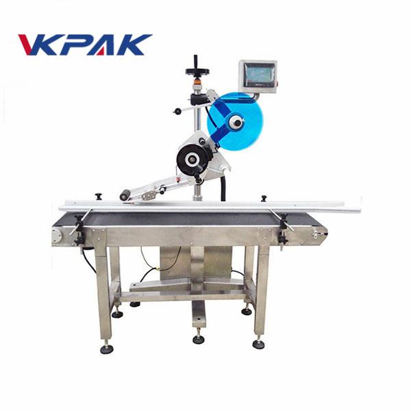 Máquina aplicadora de etiquetas de follas planas para máquina de etiquetaxe autoadhesiva de motor servo