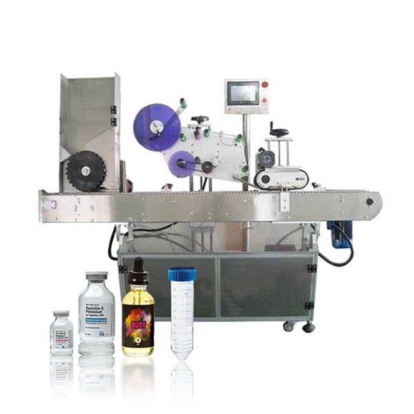 Siemens Plc Vial Servo Controller Máquina de etiquetaxe horizontal automática